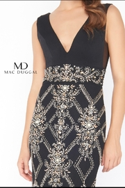 Mac Duggal V NECK GOWN - - Front full body