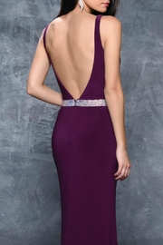 Nina Canacci V-Neck Gown - Front full body