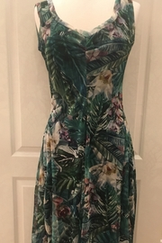Elana Kattan V neck  green printed maxi dress - Product Mini Image