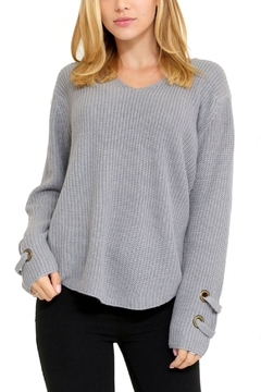 1 Funky V-Neck Grommet Sweater - Product List Image