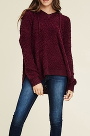 Staccato V-Neck Hoodie Pullover - Product Mini Image
