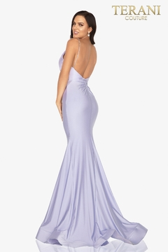 Terani Couture V-Neck Jersey Gown - Alternate List Image