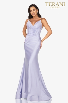 Terani Couture V-Neck Jersey Gown - Product List Image