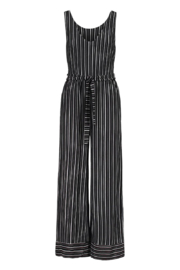 Tribal  V-Neck Jumpsuit w/ Sash - Product Mini Image