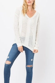 Cozy Casual  V Neck Knit Pullover - Product Mini Image