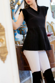 Thml V-Neck Knit Top - Product Mini Image