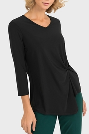 Joseph Ribkoff USA Inc. V-Neck Knot Detail Top - Product Mini Image