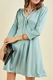 Entro V-Neck Knot Dress - Product Mini Image