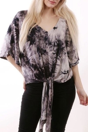 ENTI V-Neck Knot Top - Front cropped