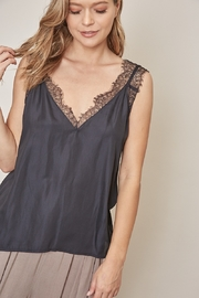 Mustard Seed  V-Neck Lace Tank Top - Product Mini Image