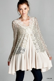 Jodifl V-Neck Lace Tunic - Product Mini Image