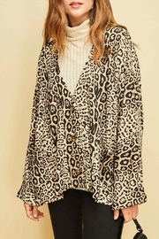 Entro V-Neck Leopard Cardigan - Product Mini Image