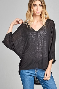 Caramela V-Neck Lightweight Top - Alternate List Image