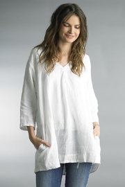 Tempo Paris V-Neck Linen Tunic - Product Mini Image