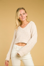 Wild Honey V-Neck Long-Sleeve Sweater - Product Mini Image