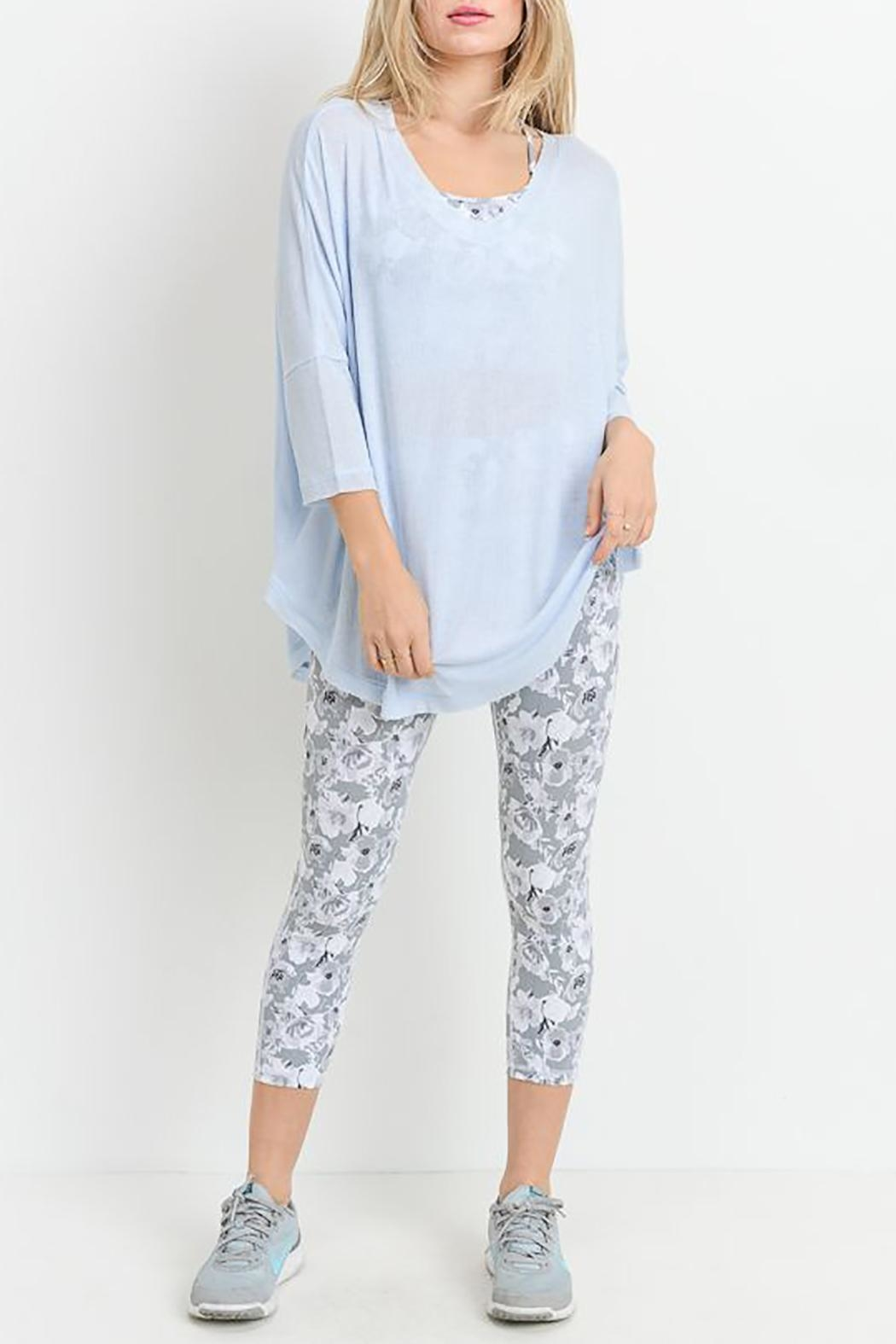 Mono B V-Neck Long-Sleeve Top - Front Cropped Image
