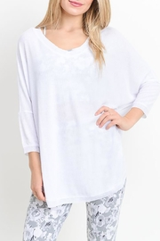 Mono B V-Neck Long-Sleeve Top - Front cropped