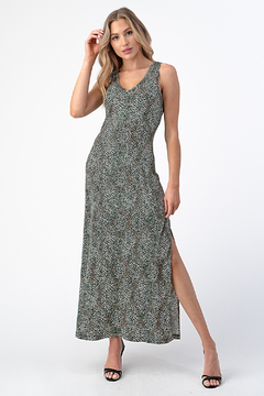 Ariella USA V-Neck Maxi w Slit - Alternate List Image
