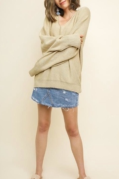 Shoptiques Product: V-Neck Oatmeal Pullover