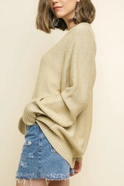 Umgee USA V-Neck Oatmeal Pullover - Side cropped
