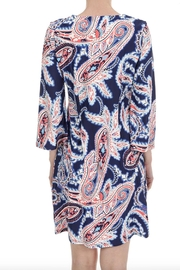 Aryeh V-Neck Paisley Dress - Back cropped
