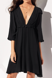 Lyn -Maree's V Neck Pleated Dress - Front cropped