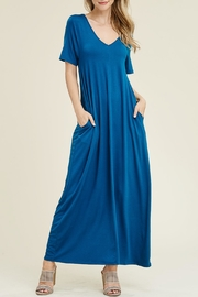 Riah Fashion V-Neck/pocket Maxi Dress - Product Mini Image
