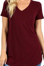 Zenana Outfitters V-Neck Premium Top - Front cropped