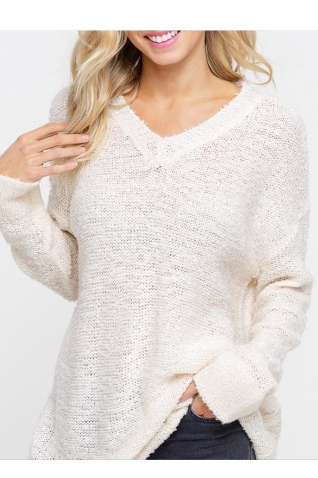 Listicle V-Neck Pullover - Main Image