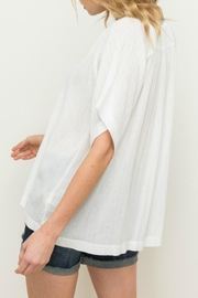 Mystree V-Neck Pullover Top - Side cropped