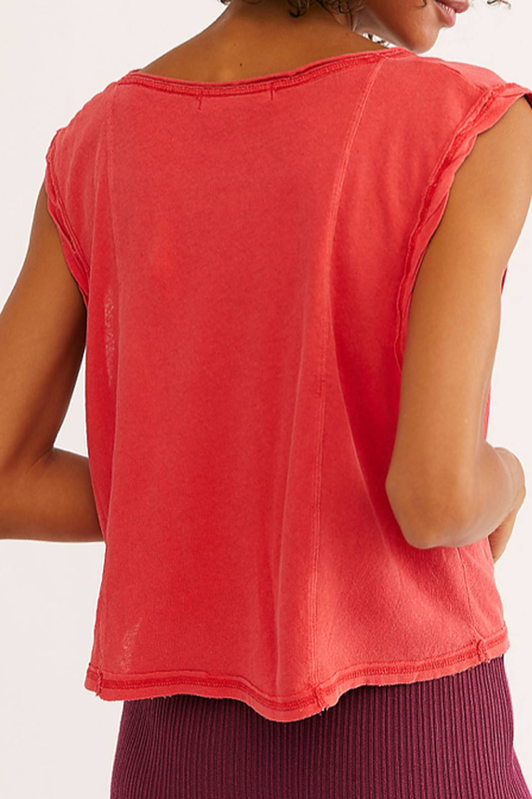 Free People V-neck red tank - Front Full Image