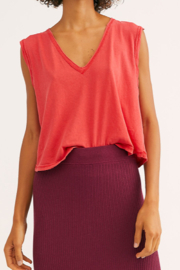 Free People V-neck red tank - Product Mini Image