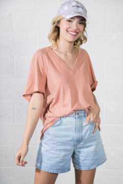 Very J  V-Neck Relaxed Tee - Product List Image