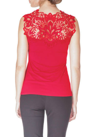 Arianne V-Neck Reversible Lace Tank - Front full body