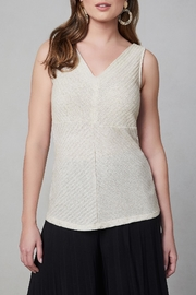 Frank Lyman V-Neck Ribbed Top - Product Mini Image