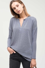 Blu Pepper V-Neck Ribbed Top - Product Mini Image