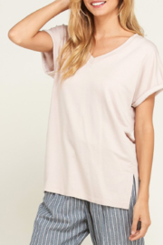 Wishlist V Neck Rolled Up Sleeve Tunic - Product Mini Image