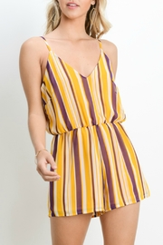 Adrienne V-Neck Romper - Front cropped