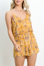 Adrienne V-Neck Romper - Product Mini Image