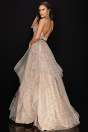 Terani Couture V-Neck Ruffled Ball Gown - Product Mini Image