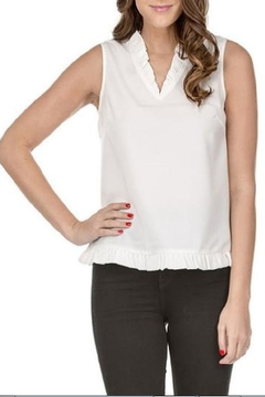 Shoptiques Product: V-Neck Ruffles Shell