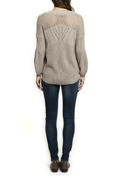 Dex V neck Self Tie Open Knit Sweater - Alternate List Image
