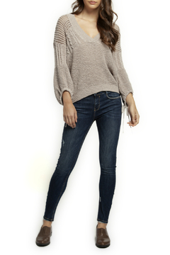 Dex V neck Self Tie Open Knit Sweater - Product List Image