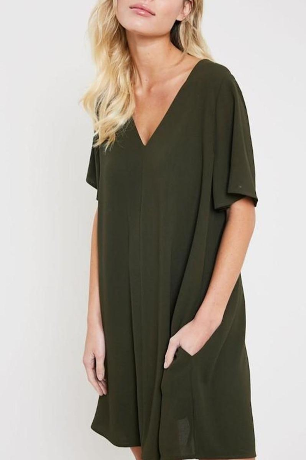 Wishlist V-Neck Shift Dress - Front Full Image