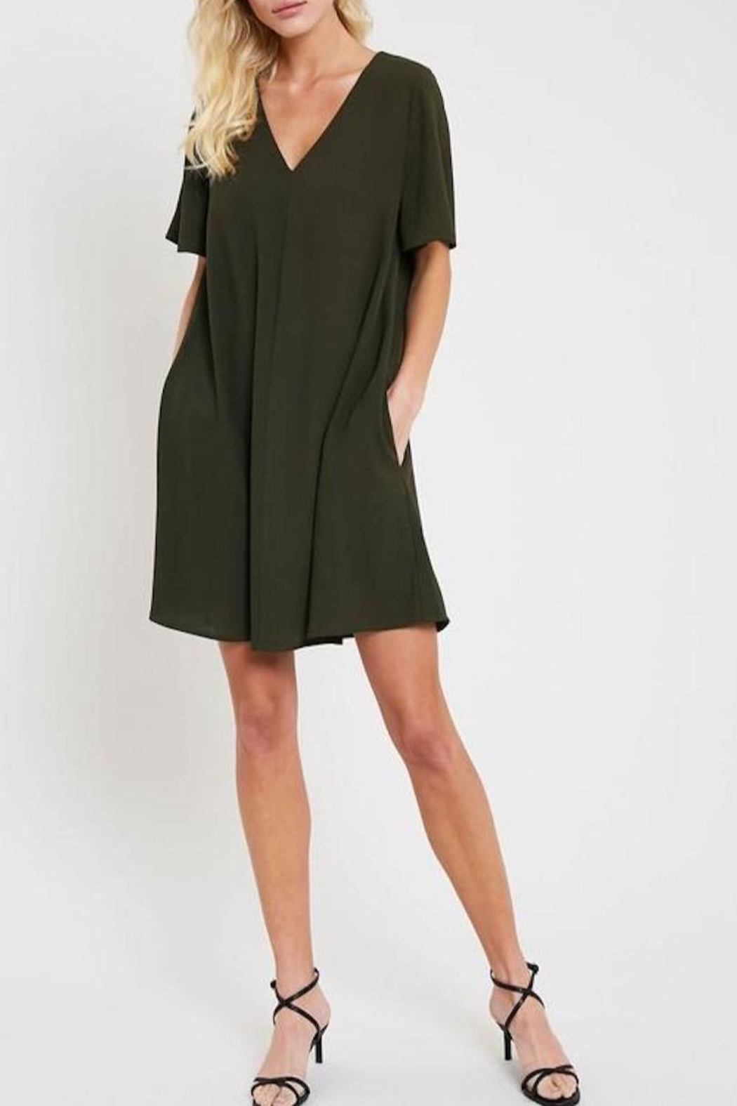 Wishlist V-Neck Shift Dress - Front Cropped Image