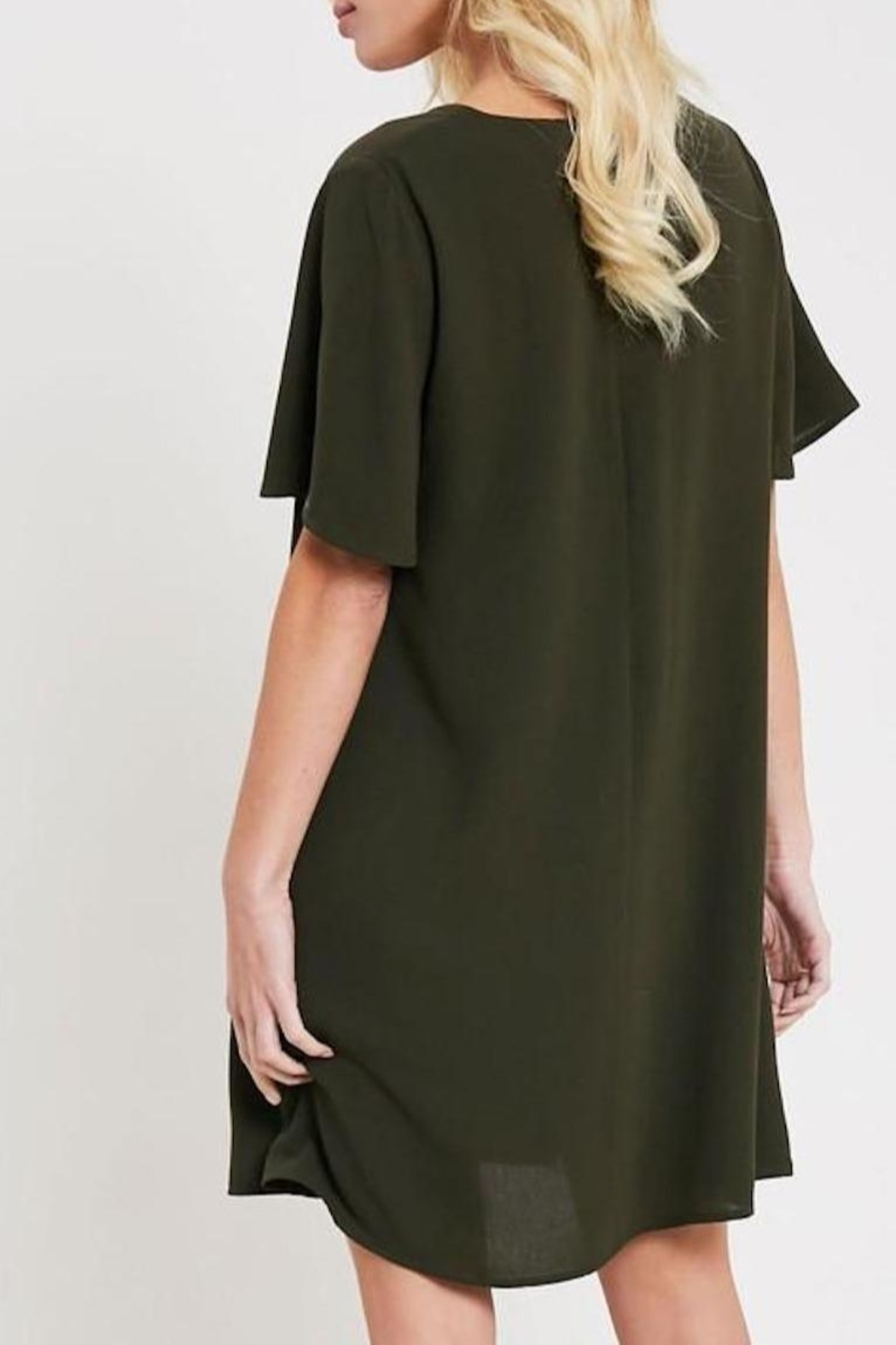 Wishlist V-Neck Shift Dress - Back Cropped Image
