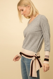Mystree V Neck Side Detail Sweater - Product Mini Image