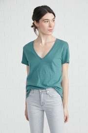 Amour Vert V-Neck Slub Tee - Product Mini Image