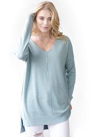 Dreamers V-Neck Soft Sweater - Product Mini Image