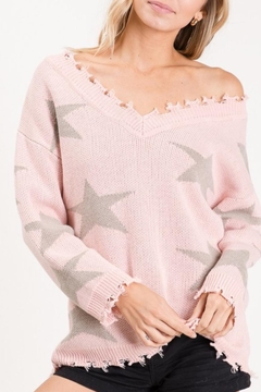 Bibi V NECK STAR SWEATER - Product List Image